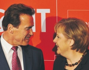 Schwarzenegger and Merkel